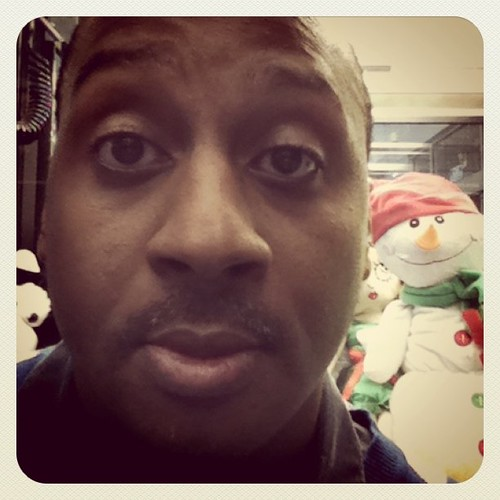 Movember day 8: snowman mo!  #teamrdu http://goo.gl/4bl0 donate to help the mo!