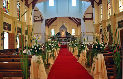 Aisle to the altar of the Basilica Minore of Our Lady of Penafrancia