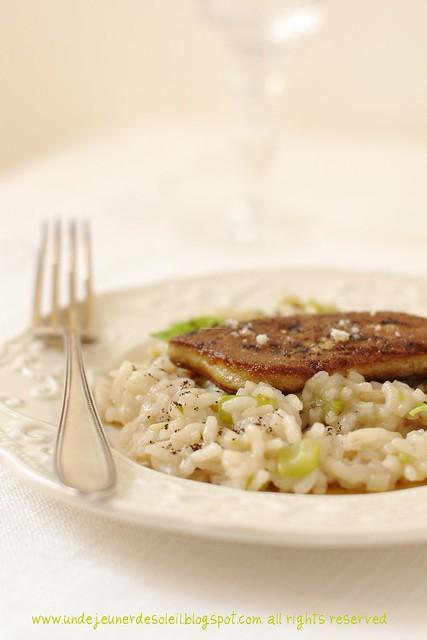 Risotto céléri et foie gras