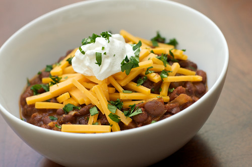Vegetarian Black Bean Chili with Orange and Cumin
