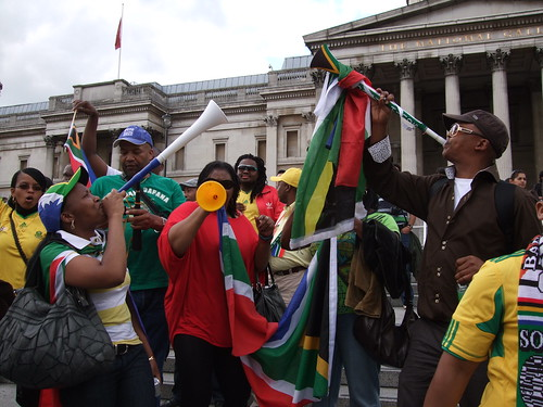 South Africa fans after the match