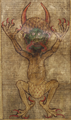 Codex Gigas (portrait of the devil)