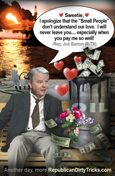 Joe Barton Apology Oil Love Image