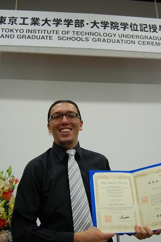 Mi graduacion de la Maestria