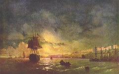 Aivazovsky, Ivan  - Odessa at night  - 1846