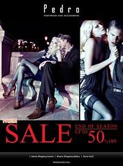 Pedro End Of Season Sale 12 Nov 10+