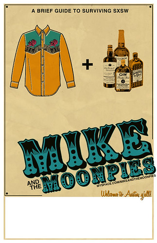Mike and the Moonpies SXSW 2010 Poster