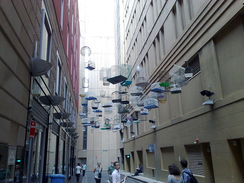 Lots of bird cages