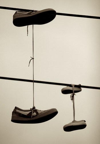 Shoes on a wire 4