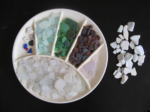 Second seaglass haul from Lake Michigan, 2010.