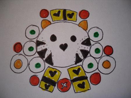 tiger bento drawing