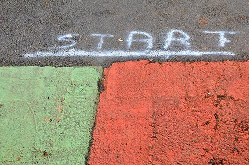 Start - the race starts here!