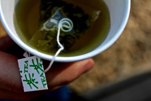 For just 1,000 won, you too can enjoy a cup of Green Tea after a walk up to the top and back.