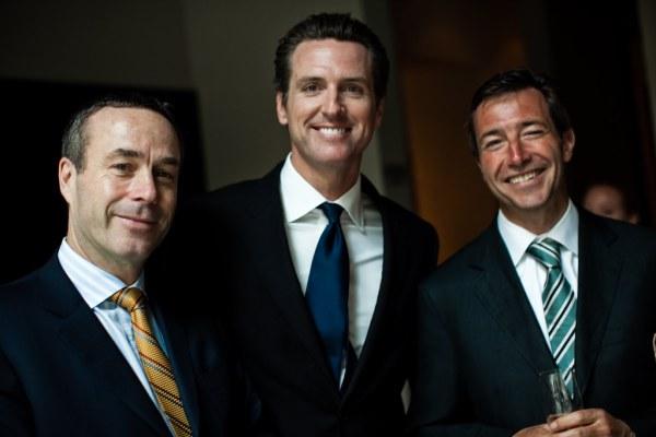 Lionel Barber, Gavin Newsom, John Ridding
