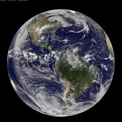 NASA GOES-13 Full Disk view of Earth May 14, 2010
