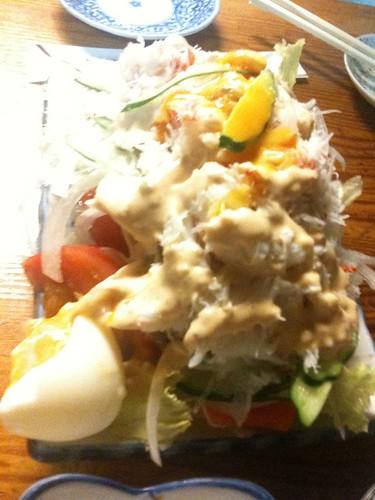 サラダ(カニ満載)