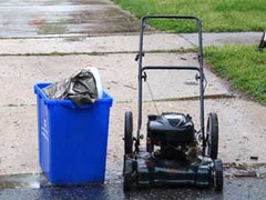 Lawnmower set out for scrap metal recycling