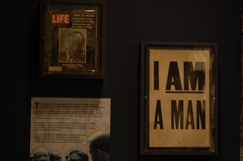An original I am a man poster at the RocknSoul Musuem, Memphis, Tenn.