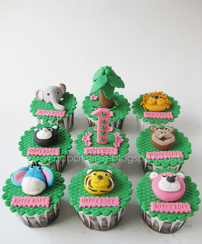 jungle /zoo cupcake