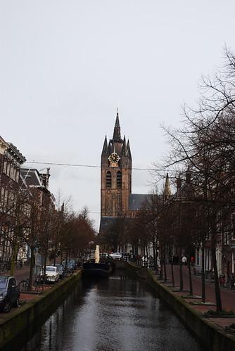 Delft Church, Canal View