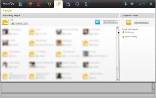 Halaman People menampilkan daftar kontak dari akun messenger kita