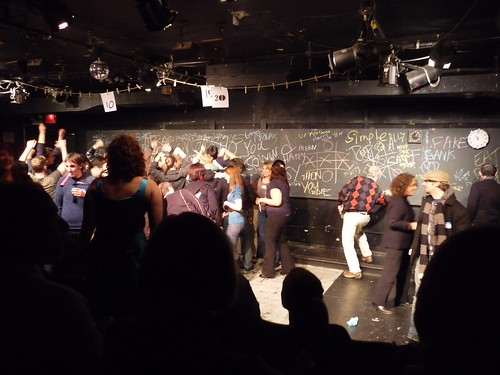 at the neo-futurists on NYE