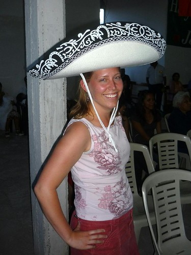 Lindsay with a Mariachi Hat