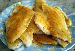 53. Filé de linguado frito com curry
