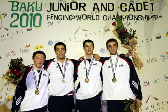 The US Junior Men's Foil Team  Photo S.Timacheff/FencingPhotos.com