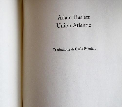 Adam Haslett, Union Atlantic, Einaudi sl 2010, progetto grafico di Riccardo Falcinelli, frontespizio (part.)