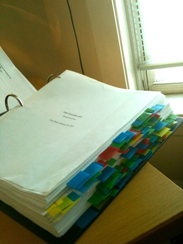 Flagged manuscript