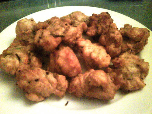 Prawn fritters