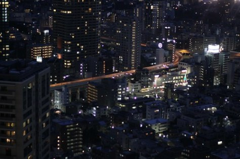Looking down from Toyko Tower