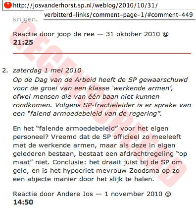 SP Jos van der Horst snoert critici de mond
