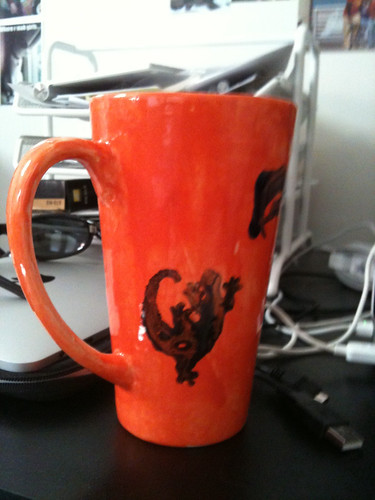 Father's Day Mug--Silly Wall Lizard