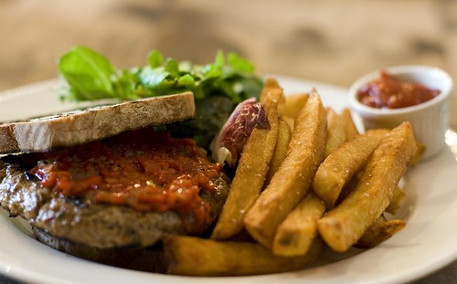 Fire-Grilled Lamb Burger & Fries