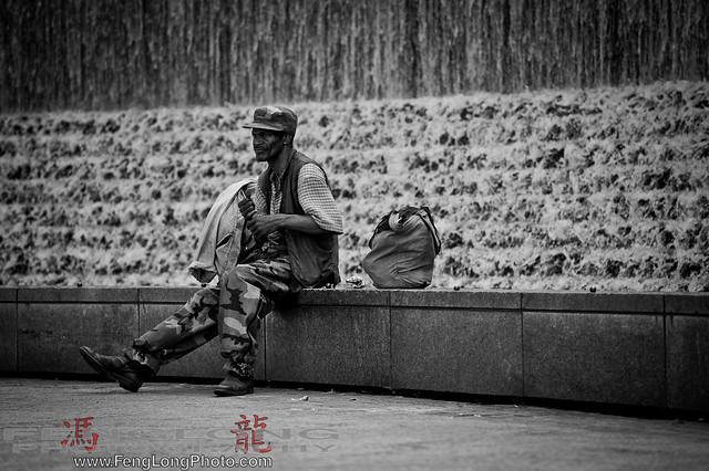 Wide shot of Waterfall Man on Atlanta Worldwide Photowalk