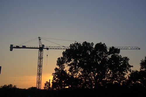 Sunset Crane