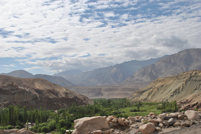 Road to Alchi Gompa, Ladakh.