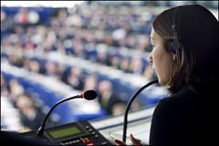An interpreter at work during the EU - South K...