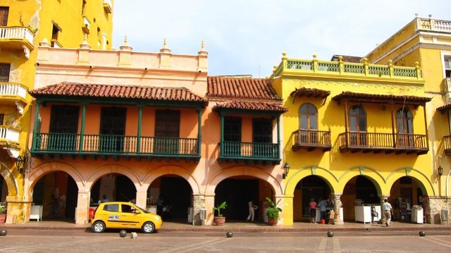 A Colombian taxi awaits its next customer in Cartagena.