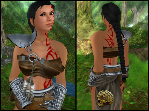 female barbarian - chest piece
