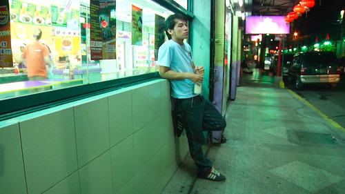 MARTIN watches the chinatown surrounding at night