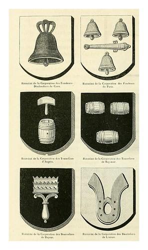 015-Banderas de corporaciones artesanales -Le moyen äge et la renaissance…Vol III-1848- Paul Lacroix y Ferdinand Séré