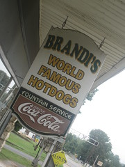 brandi's hot dogs - the sign