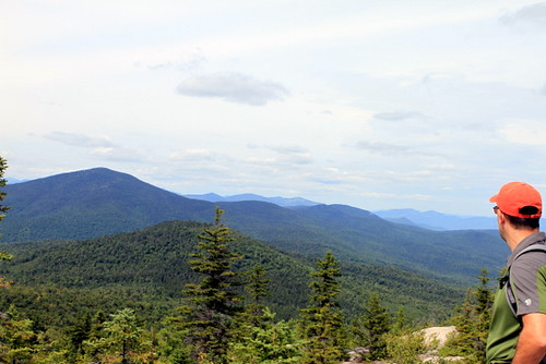 The Presidentials from Black Cap Mountain in New Hampshire
