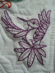 Hand Embroidered Hummingbird