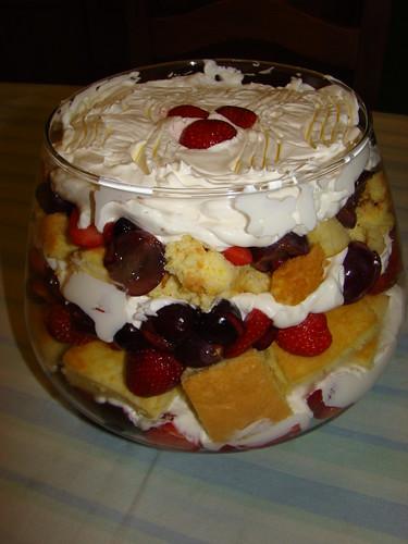 Trifle de Frutos Vermelhos