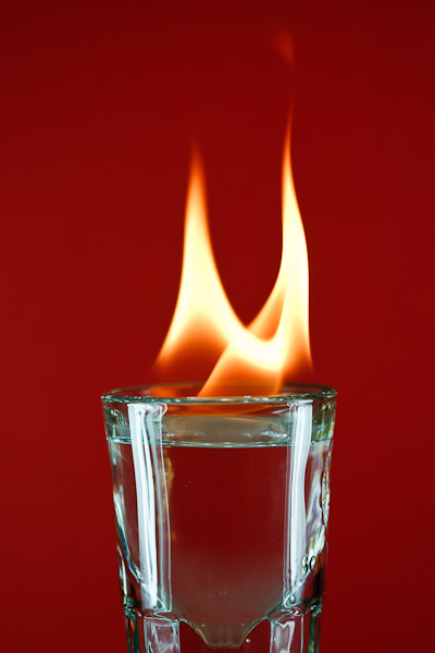 This vodka really burns going down.