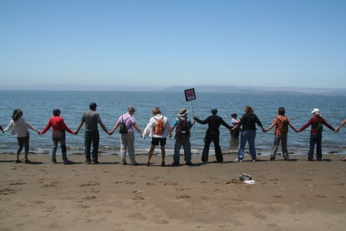 Hands Across the Sand, East Bay (Alameda) by angela7dreams